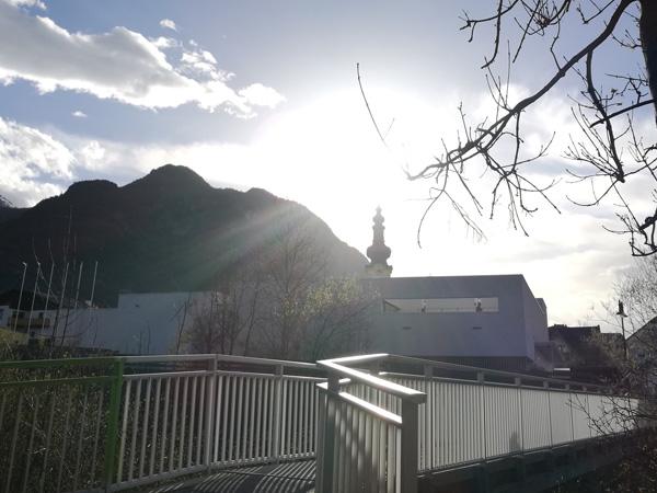 Ein schöner Ausblick auf den Kirchturm